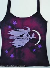 WITCH STRAPPY T SHIRT  TOP  PAGAN FESTIVAL GOTHIC SIZES 8 to 26