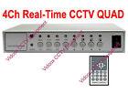 4 Channel 120fps Real-time Digital Color Quad Processor for CCTV Security Camera