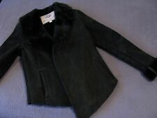 NWOT UGG NETTAFAY Black Shearling Fur Jacket Coat - Size Small MSRP $1250