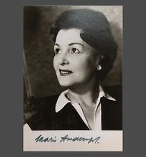 Orig. Autograph Maria otherwise SIGNED AUTOGRAPH PHOTO CARD 1965