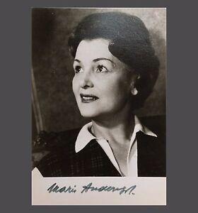 orig. Autogramm MARIA ANDERS signierte Autogrammkarte Foto-Karte um 1965