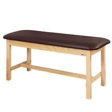 "Treatment Exam Table Flat top Wooden H-brace frame 24"" Burgundy"
