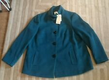 House of fraser linea range teal green coat  / jacket bnwt size 20  (not M & S )
