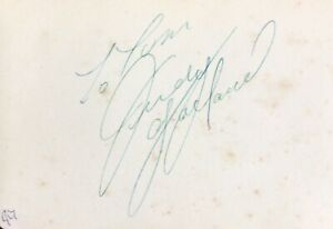 JUDY GARLAND AUTHENTIC SIGNED VINTAGE ALBUM PAGE  AFTAL#198