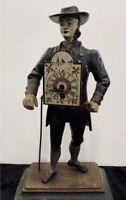 "Rare Vintage J.v.E Clock Dutch Clock Seller - JvE Holland Metal Figure 15"" Tall"