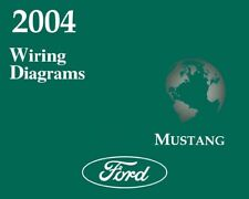 2004 Ford Mustang Wiring Diagrams Schematics Drawings Color Codes Factory OEM(Fits: Ford)