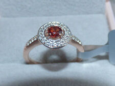 Natural Garnet Halo Ring  Size 7 (N)