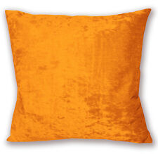 Mv100a Orange Diamond Crush Cotton Velvet Cushion Cover/Pillow Case Custom Size
