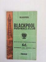 1960's  Blackpool  Football Programmes - Various Fixtures