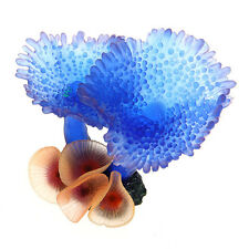 Artificial Fake Resin Coral Wall Water Aquarium Decoration Blue