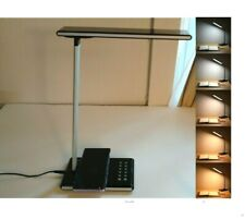 LED Desk Lamp w/Wireless Charger USB Charging Port Dimmable Light
