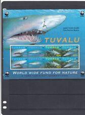 a140 - TUVALU - SG872-875 MNH 2000 SAND TIGER SHARK  - 2 SETS IN SHEETLET - WWF
