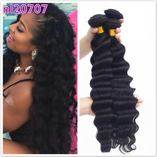 3 Bundles/150g Loose Deep Wave Virgin Hair 100% Brazilian Human Hair Extensions