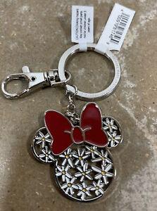 Minnie Mouse vinyl keychain Disney key chain polka dot zipper pull rubbery 2011