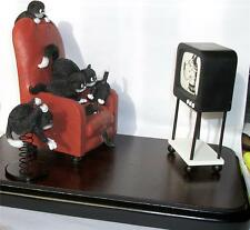 ALBERT DUBOUT SCARY MOVIE CAT / CATS KITTEN / KITTENS SET / TV FIGURINES