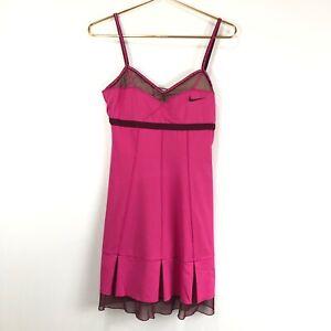 Nike Women's Maria Sharapova Custom Athlete Pink & Burgundy Tennis Dress
