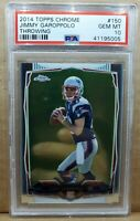 2014 Topps Chrome Jimmy Garoppolo Rookie PSA 10