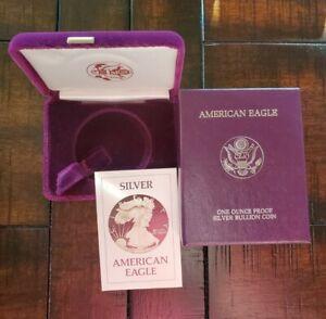 1986 Proof $1 American Silver Eagle Box & COA | No Coin