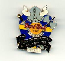 Hard Rock Cafe Stockholm STAFF 1997, 12th Anniversary Viking Helmet Logo Pin