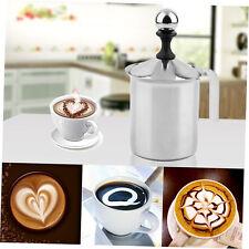 400cc Stainless Steel Milk Frother Double Mesh Foamer DIY Fancy Coffe Cream KB