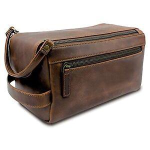 Buffalo Unisex Toiletry Bag Travel Dopp Kit Made High Class Genuine Leather