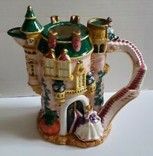 """Fitz and Floyd Ceramic Cinderella 10"""" Collectible Pitcher *Retired Vintage *Mint"""