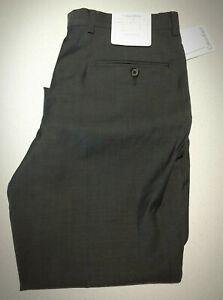 Calvin Klein Mens Grey Super 100's Wool Dress Pants Size 84 Regular $200