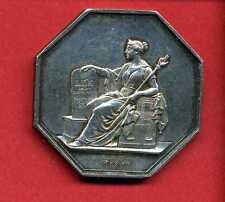(J.02) JETON EN ARGENT AVOUES AU TRIBUNAL D'INSTANCE DE PARIS 1849