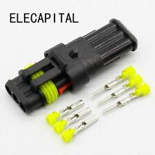 5 sets Kit 3 Pin Way Waterproof Electrical Wire automotive Connector Plug for ca
