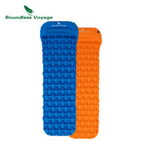 Outdoor Camping Ultralight Single Inflatable Mat Sleeping Pad Damp-proof Cushion