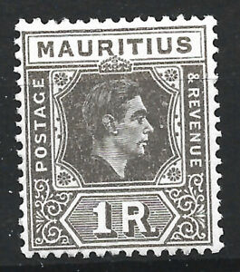 1938 GVI Mauritius 1r grey-brown fine mint never hinged MNH SG260 cat £45