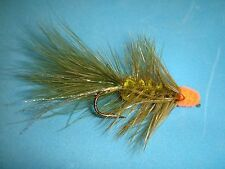 FLY FISHING FLIES - Olive EGG-SUCKING LEECH size #4 (6 ea.)