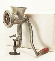 Vtg antique Best made 25 hand crank food meat sausage grinder chopper processor