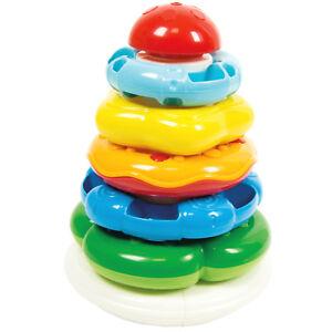 5 Anelli Colorati e Impilabili Gioco per Bambini 6-36 Mesi Baby Clementoni 17103