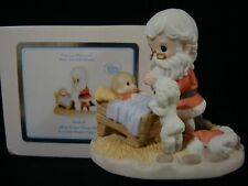 zc Precious Moments-Santa Kneeling By Manger-How Great Thou Art-Very Rare!