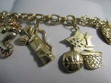 "14k Gold Charm Bracelet  7.5""L. 6mm   SALE-SAVE $1741.   #1064"
