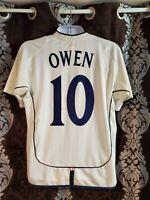 England soccer jersey Owen 10 season 2002 size L free shipping