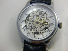Rotary automatic skeleton mens watch, Rotary strap, working