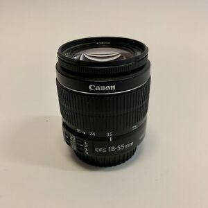 Canon EFS 18-55mm Lens - Macro 0.25m/0.8ft