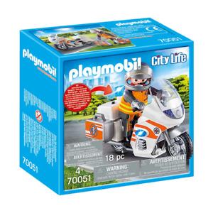 Playmobil City Life Emergency Motorbike 70051 NEW