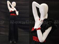 Female Fiberglass Glossy White Mannequin Egg Head Display Dress form #Md-C7