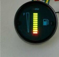 "Motorcycle~ATV~Car Aluminum Alloy 10-LED 2"" Fuel Level Meter Gauge--Green LED"