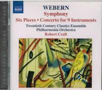 Webern: Sinfonie Op. 21, 3 Stücke Für Cello / Robert Craft, Philharmonia CD