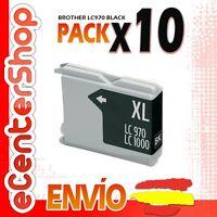10 Cartuchos de Tinta Negra LC970 NON-OEM Brother MFC-235C / MFC235C