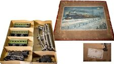 VINTAGE AMERICAN MARKET BING 0-GAUGE CAST IRON BOXED NYC LINES TRAIN SET
