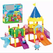 Peppa Pig amusement park swing set Toys Christmas kids gift doll Xmas child gift