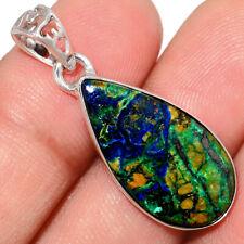 Azurite In Malachite - Morenci Mines 925 Silver Pendant Jewelry AP210013