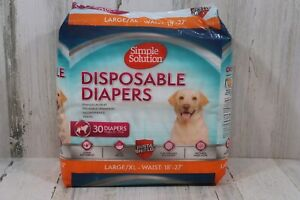 Simple Solution True Fit Disposable Dog Diapers for Female Dogs   Super with