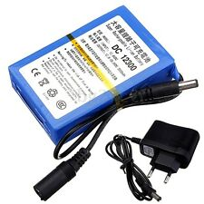DC 12V Power 3000mAh Super Portable Rechargeable Battery Pack + Adapter Plug