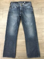 Mens Guess Desmond Relaxed Fit Jeans 30 x 30 Distressed Denim